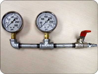 The pressure gauge tester