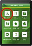 Figure 1 – Precision Laboratories' Tank Mixing App Start-Up Screen