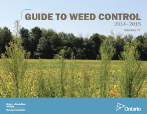 2014-15 OMAF Guide to Weed Control (Pub. 75)
