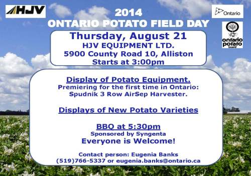 2014 Potato Field Day