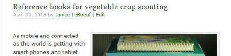 Reference books for vegetable crop scouting
