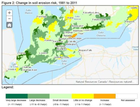 Screenshot from AAFC Soil Erosion Risk Indicator