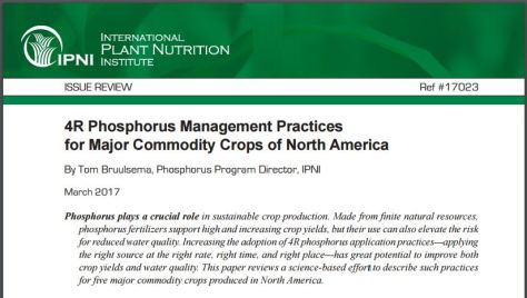 4R Phosphorus Management Practices for Major Commodity Crops of North America