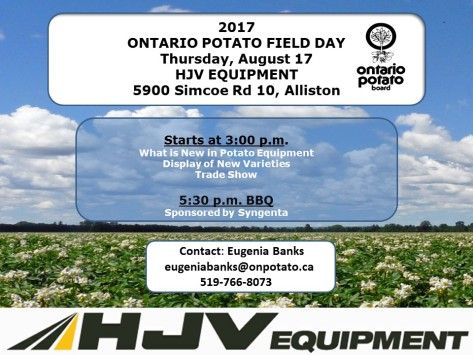 2017 POTATO FIELD DAY NOTICE August 17