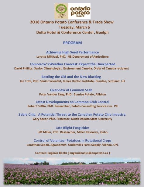2018 Potato Conference Program