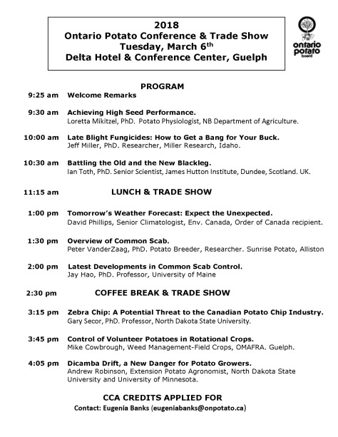 2018 Potato Conference Program March 6 FINAL